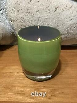Glassybaby Seahawks SPIRIT of 12 Limited Edition Green Blue Candle Holder 2013
