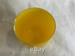Glassybaby Taxi Votive Candle Holder RETIRED withsticker Rare #222