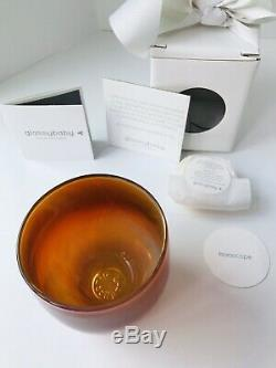 Glassybaby glass candle votive holder HOROSCOPE pink orange yellow red NEW withbox