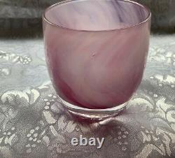 Glassybabyglasscandleholdervotivecloud9pinkcolorperfect4valentines