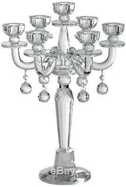 Huntington 19 High Crystal Candelabra Taper Candle Holder