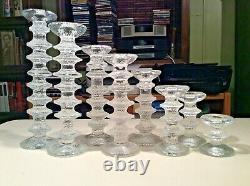 IITALLA TIMO SARPANEVA FESTIVO Candlesticks Set of 8 1,2,3,4,5,6,7,8 Rings