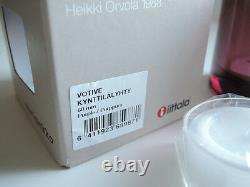 Iittala Kivi Purple Purppura VOTIVE 60mm Candle holder Limited marimekko