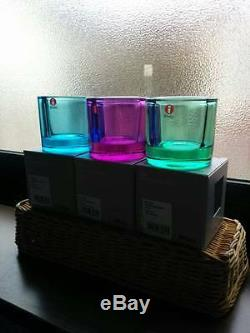Iittala marimekko Kivi Amethyst, Light green, Light blue 3 colors Set