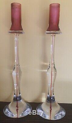 Italian Mid Century Murano Cenedese Candlesticks