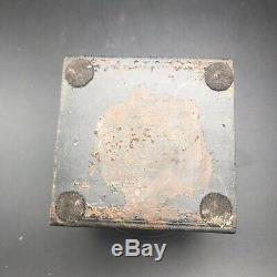 Jan Barboglio Candle Holder Salt Seller Glass Iron 3 x 3.5