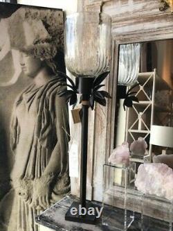 Jan Barboglio Granadille Candelabra Iron, Handmade, Glass
