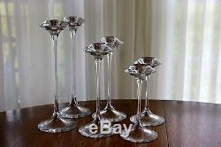 Kosta Boda Fanfare Candlesticks Set of 6