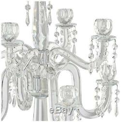 Laramie 26 3/4 High 3-Tier Crystal Candelabra Candle Holder