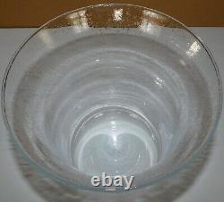 Large Partylite Replacement Glass Hurricane Seville 3 Wick Candle Holder
