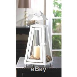 Lot 10 Charming White Lantern Candle Holder Wedding Centerpieces