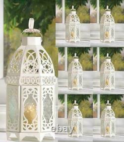Lot 10 Enchanting 12 White Moroccan Lantern Candleholder Wedding Centerpieces