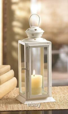 Lot 10 Starry Cutout Lantern 8 Small White Candle Holder Wedding Centerpieces