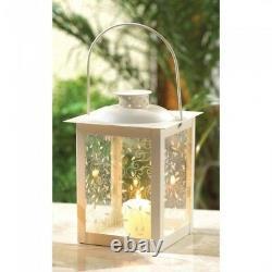 Lot 10 White Lantern Small 8 Candle Holder Wedding Centerpieces Set