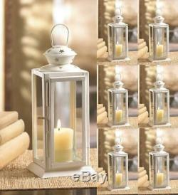Lot 15 Starry Cutout Lantern 8 Small White Candle Holder Wedding Centerpieces
