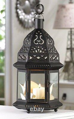 Lot 18 Ornate 12 Metalwork Lantern Moroccan Styling Candle Holder Centerpieces