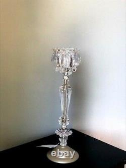 Lot 6 Crystal Flower Candelabra Candle holder Centerpieces