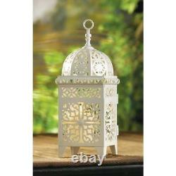 Lot of 15 White Wedding Moroccan Garden Centerpieces Candle Holder Lanterns NEW