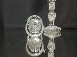 MINT CONDITION! Vintage Waterford Alana 8 (20.5 cm) Crystal Candlesticks SIGNED