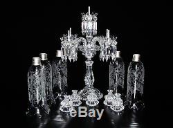 Magnificent Five Light Baccarat Crystal Candelabra / Candle Holder