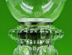 Magnificent Single Light Baccarat Crystal Candelabra / Candle Holder. 21 1/2