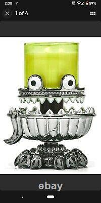 NEW Bath & Body Works Halloween 2021 Monster Light Up 3 Wick Candle Holder