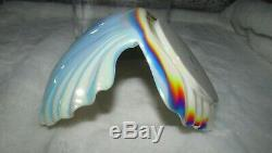 NEW Bath & Body Works Iridescent Seashell Clam Shell 3 Wick Candle Holder