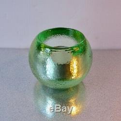 NEW CELERY Glow Bug! Votive Candle holder by Fire and Light Recycled glass NEW