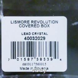 Ne Waterford Lismore Revolution Covered Box+black Marble Lid, Crystal Jar Dish