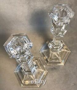 PV04258 Vintage Clear Baccarat Crystal VERSAILLES Candle Stick Pair- 8