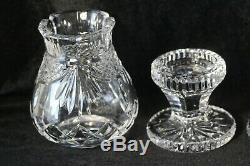 Pair (2) Waterford Society WS 1997 Jim O'Leary Hurricane Lamp Candle Holders