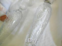 Pair Antique Stunning Cut Glass 11 Candlesticks Pairpoint N/R