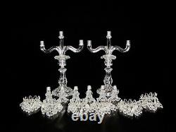 Pair Of Magnificent Three Light Baccarat Crystal Candelabra/Candle Holder. 17 1/2