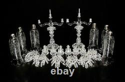 Pair Of Magnificent Three Light Baccarat Crystal Candelabra/Candle Holder. 28 1/4
