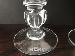 Pair SIMON PEARCE Handmade Shelburne Glass Candlesticks, Holders5.25 Scarce