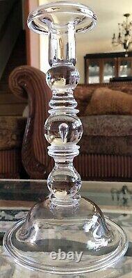 Pair Vintage Steuben Crystal 10.25 Baluster Teardrop Candlesticks, # 7746