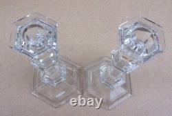 Pair of BACCARAT Versailles Crystal Candlesticks