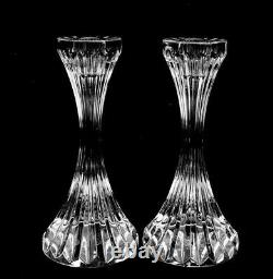 Pair of Baccarat France Crystal Massena Candlestick Holders 6