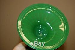 Pair of Vintage FENTON Jadeite Green Twist Candlesticks Candle Holders Glass