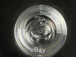 Pair of Vintage Steuben Crystal 10-1/4 Baluster Teardrop Candlesticks