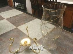 Partylite Calypso Hurricane Candle Shade W Clear Glass & Gold Stand Nib Ret Rare