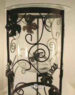Partylite Grapeleaf Seville 3-wick Candle Holder Stand With Original Glass Insert