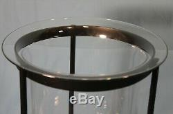 Partylite Seville 3 Wick Metal Candle Stand With Glass