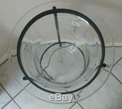 Partylite Seville 3 wick Large Hurricane Replacement GLASS (no stand) EUC