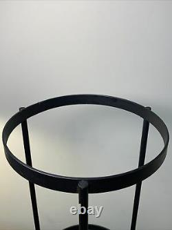 Partylite Seville Wrought Iron Glass 3 Wick Hurricane Candle Holder Retired EUC