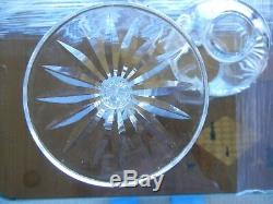Pr(2) 13.5 Waterford Crystal Candle Holder 2 Piece Votive Fairy Hurricane Lamp