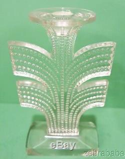 R Lalique Tokyo Candlestick Model 2119 Circa 1935