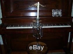 RARE Heisey 19 crystal candelabra