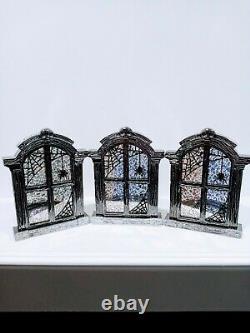 Rare 2019 Bath & Body Works Halloween Spider Window Glass Single Candle Holders
