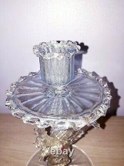 Rare Salviati Barovier Fratelli Toso Blue Gold Venetian Dragon Serpent Glass